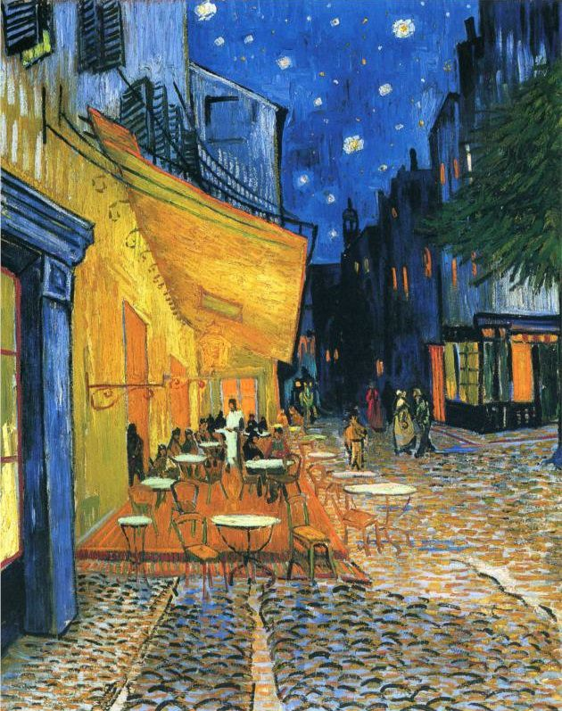 Cafe Terrace at Night - Van Gogh famous painting