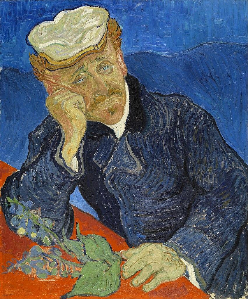 Portrait of Dr. Gachet - one Van Gogh's most famous paintings