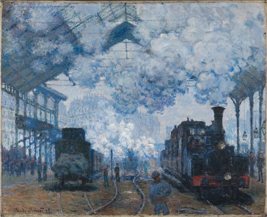 Saint Lazare Station-One of Monets most famous paintings