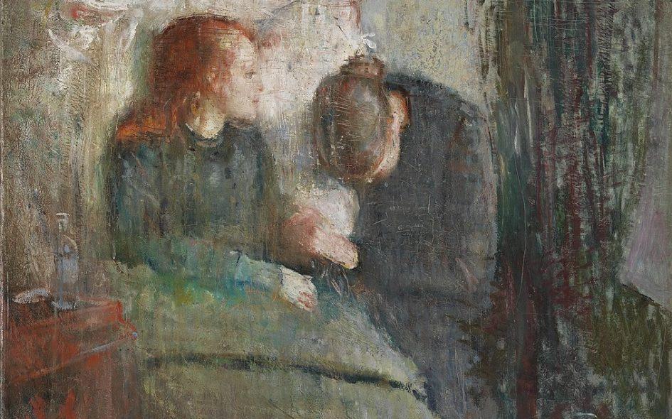 Edvard Munch Painting capturing his sister dying of Tuberculosis disease