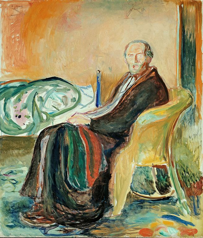 Edvard Munch Portrait depicting a scene from the Spanish Flu Pandemic 1919