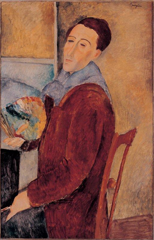 Amedeo Modigliani self portrait