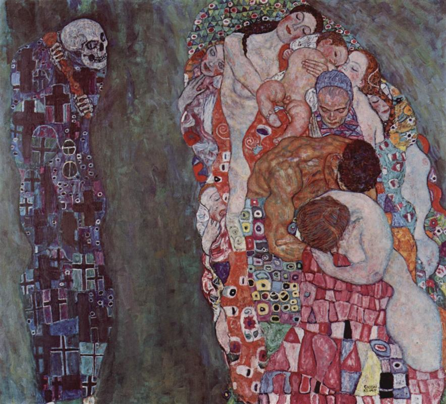 Gustav Klimt painting entitled Life & Death painted years before the Spanish Flu pandemic