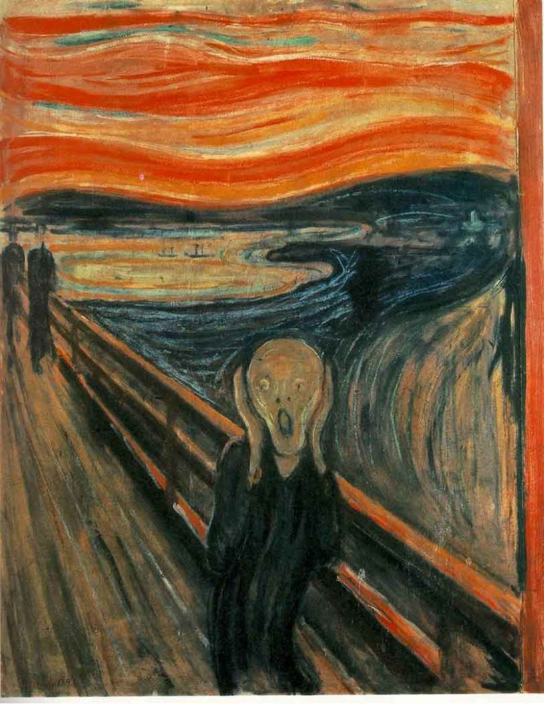The screaming face painting by Edvard Munch