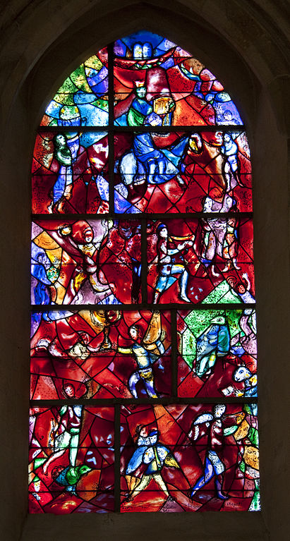 Chichester Cathedral stained glass windows made by Marc Chagall
