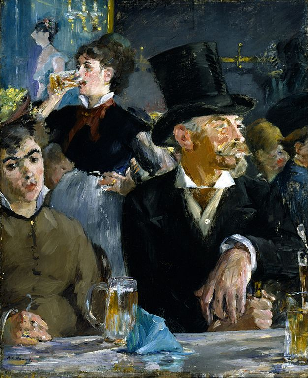 """Famous Edouard Manet painting """"at the cafe"""""""
