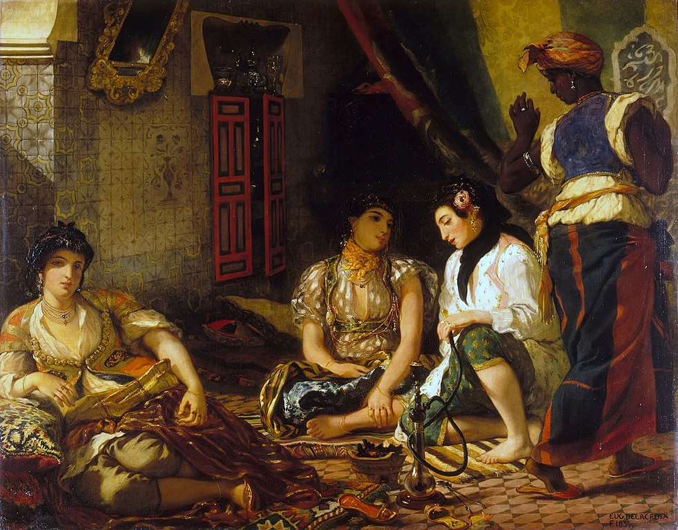 Eugene Delacroix's painting entitled:  Les Femmes d'Alger