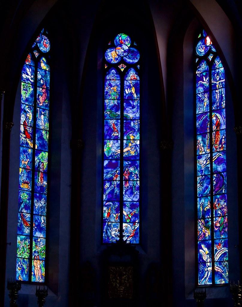 St Stephan's church Chagall Stained Glass Windows, Mainz