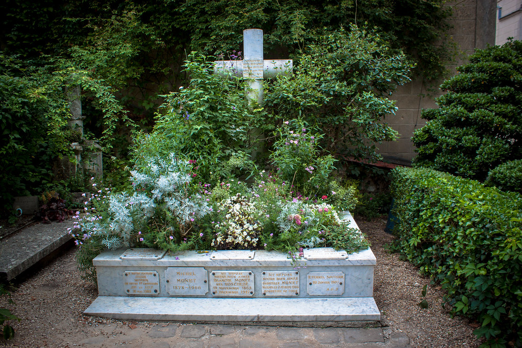 Monet's grave at Giverny church