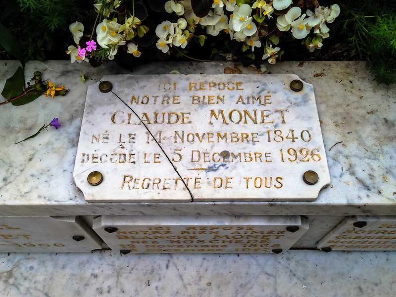 Claude Monet family grave in Giverny