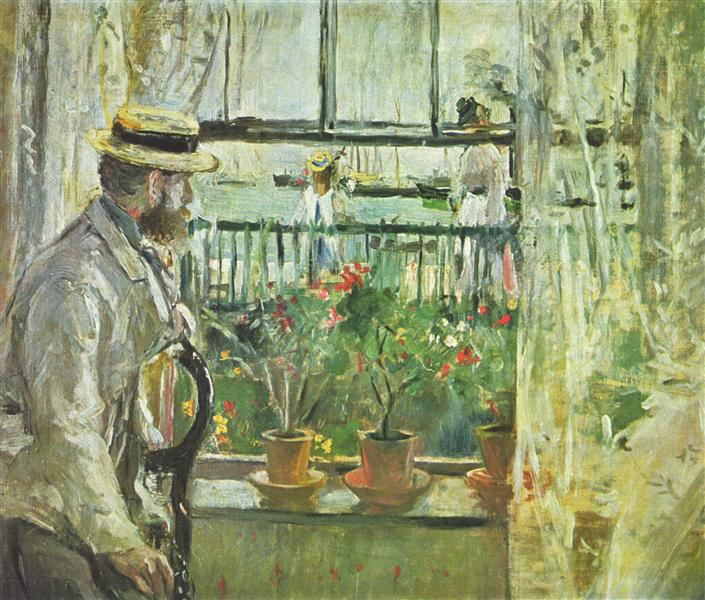 Berthe Morisot painting of her husband Eugene Manet