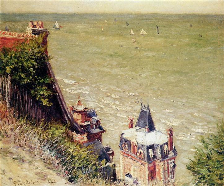 Trouville by the Impressionism painter Gustave Caillebotte