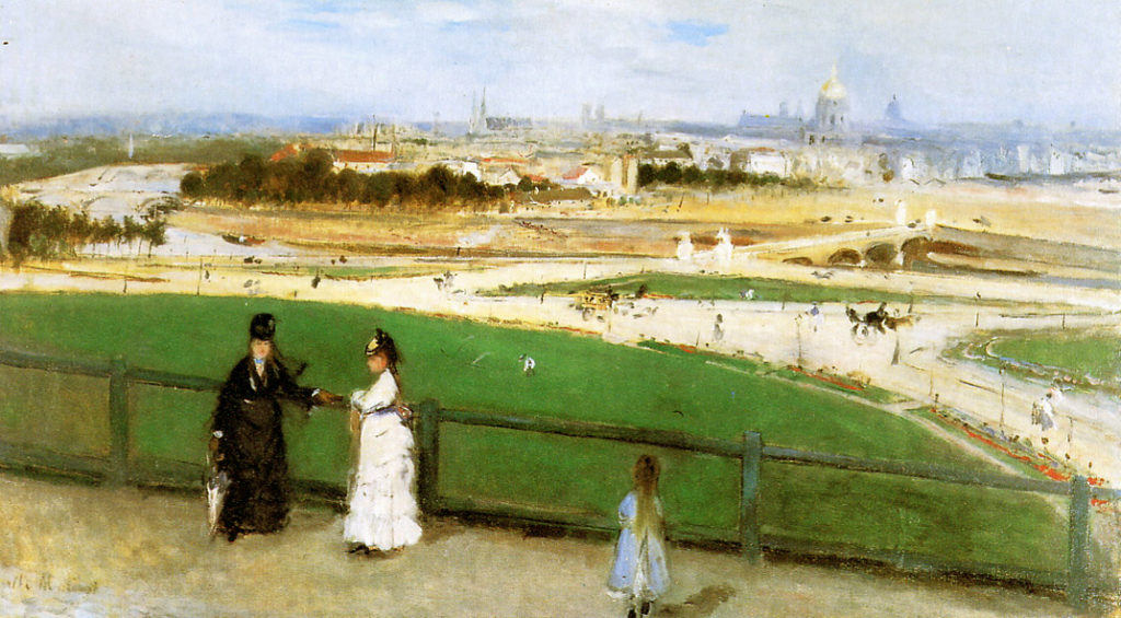 View of Paris from the Trocadero - Berthe Morisot Painting