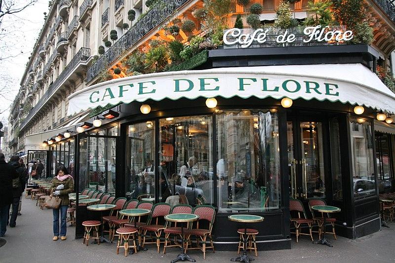 Paris walks - Cafe De Flore -  a favorite hangout of Picasso & other artists