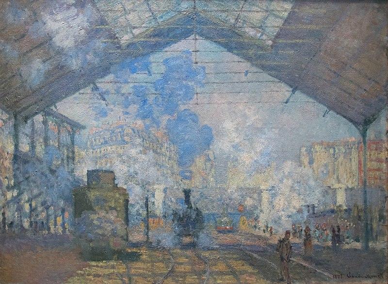 Claude Monet Painting of La Gare Saint Lazare Train Station