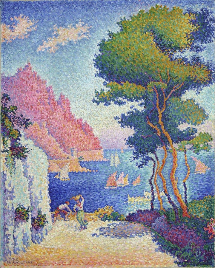 Paul Signac - pointillism painting