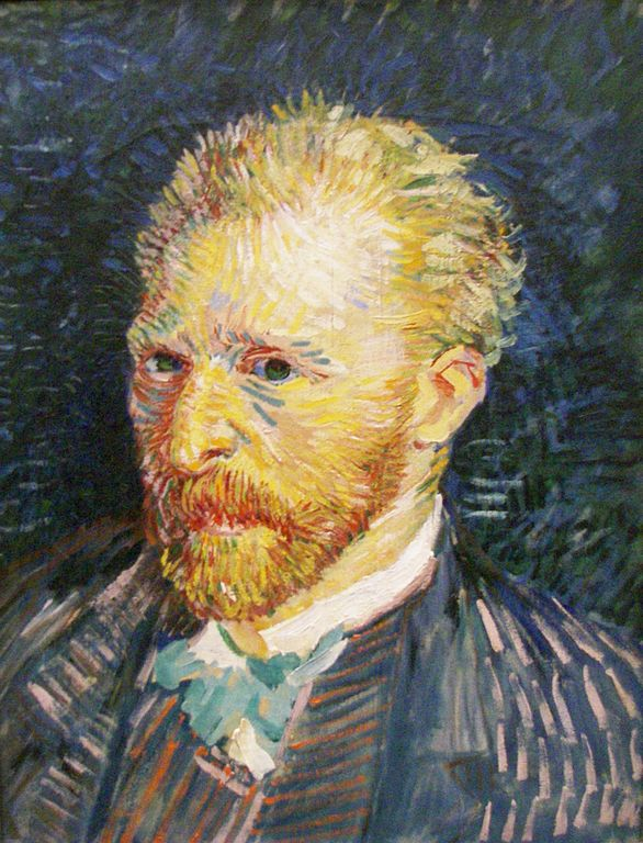 Musee D Orsay:Van Gogh Self Portrait 1887 - Neo-Impressionism style