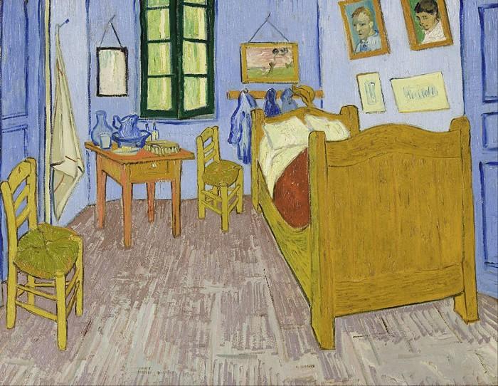 Musee D Orsay- Van Gogh painting: The Bedroom, Arles