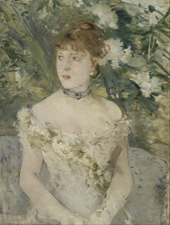 Berthe Morisot impressionism painting entitled: Young Girl in a Ball Gown