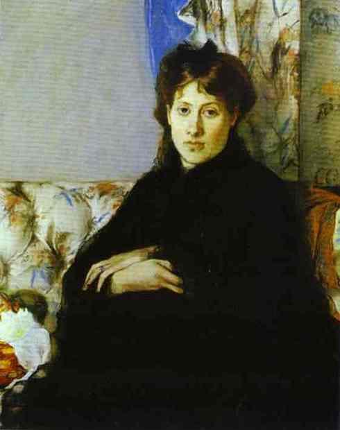 Edma Morisot Portrait painted by Berthe Morisot