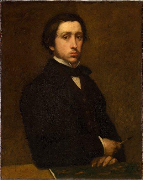 Edgar Degas Art - Self Portrait 1855