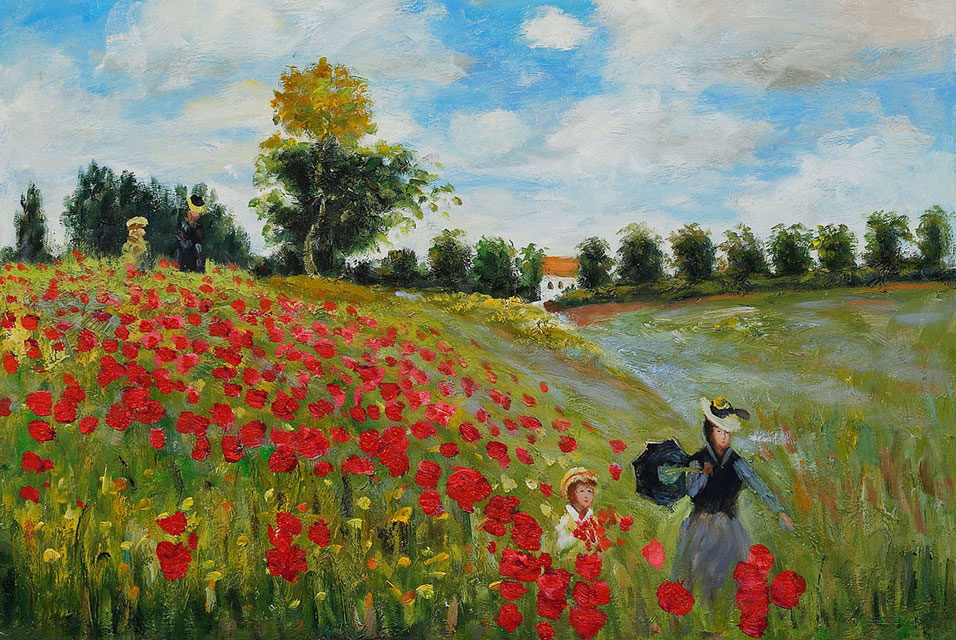 Famous Claude Monet Paintings in the Musee D Orsay - Poppy fields