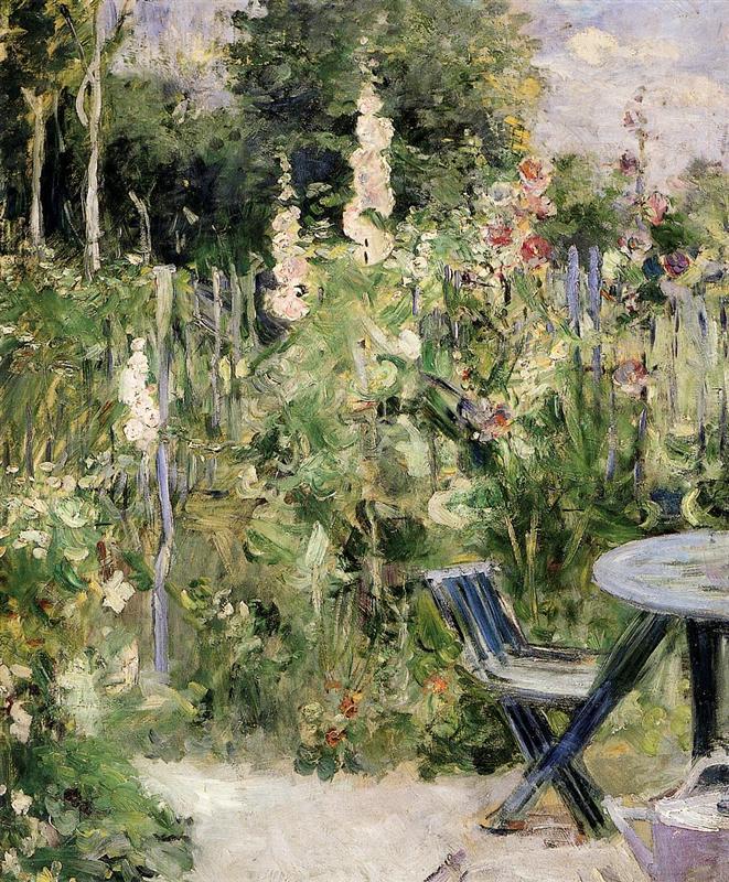 Hollyhocks - Berthe Morisot painting at the Musee Marmottan Monet