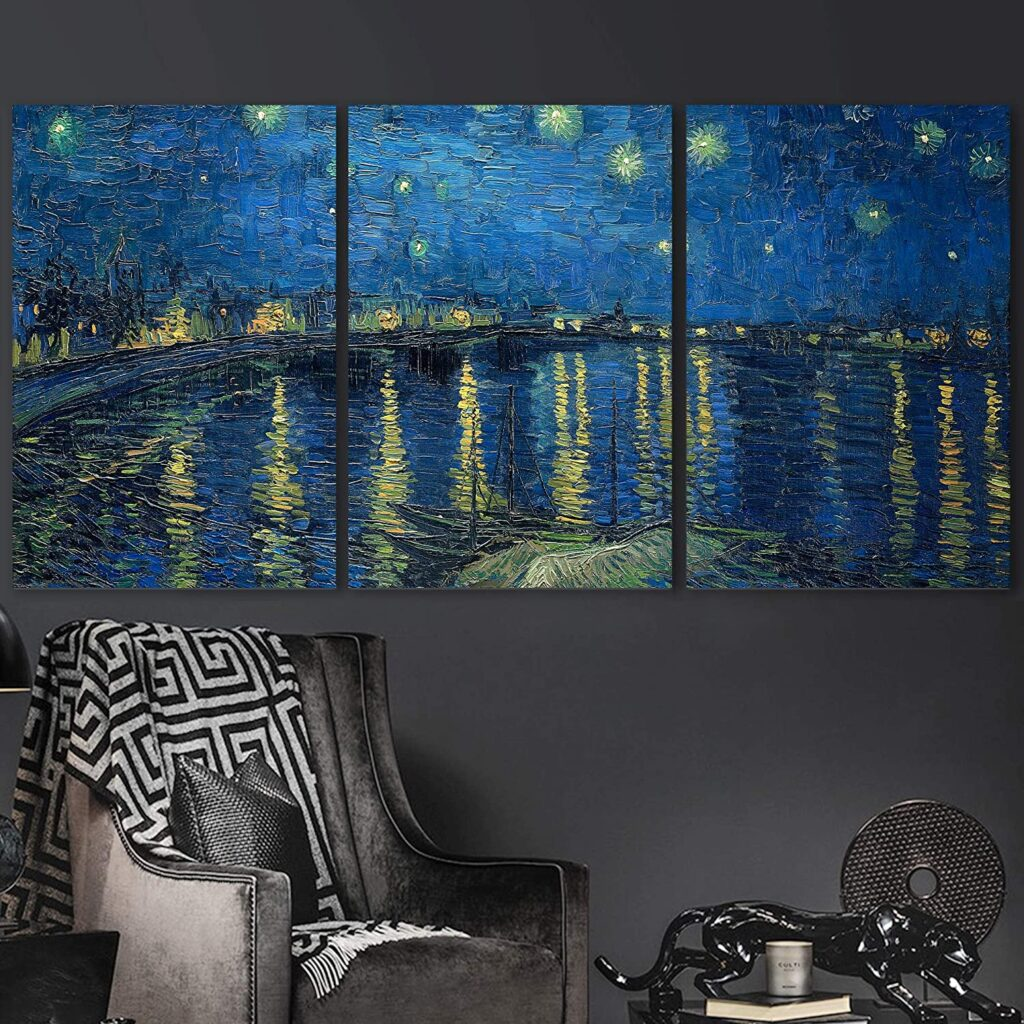 Van Gogh canvas print on three panels - Gift Ideas for Art Enthusiasts
