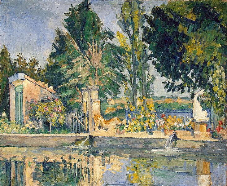 The Pool at Jas de Bouffan  - Famous artworks of Paul Cezanne