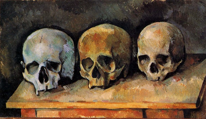 The Three Skulls - Famous artworks by Paul Cezanne