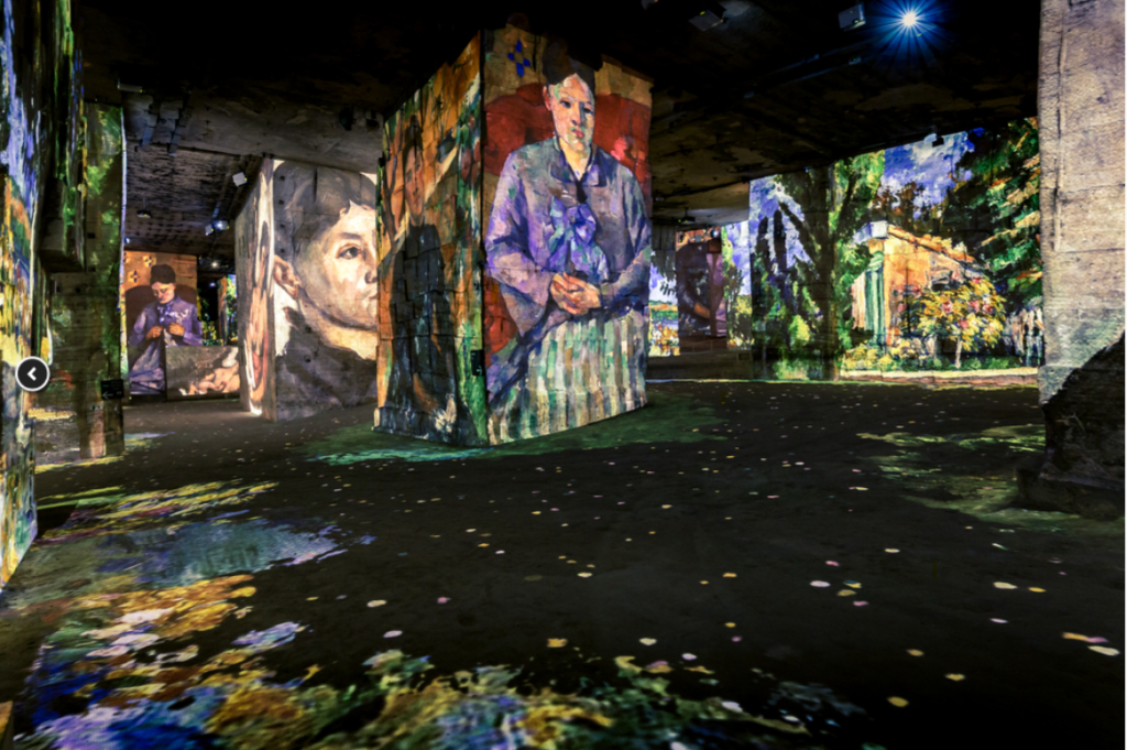 Paul Cézanne art works: The Master of Provence at the Carrieres de Lumieres, Provence, France
